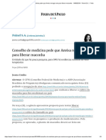 Conselho de Medicina Pede Que Anvisa Revogue Ato Para Liberar Maconha - 14-06-2019 - Painel S.a. - Folha