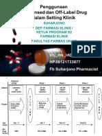 Simpo 3 - Prof Dr Suharjono, m.s., Apt - Obat Off Label Dan Unlicenced Dalam Setting Klinik