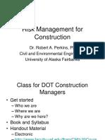 Class 1 Risk Management for Construction