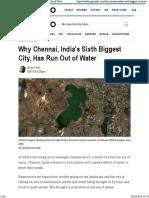 Brian Kahn Why Chennai Has Run Out of Water