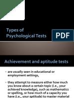 Types of PsyTests
