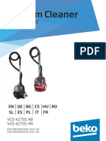 Manual de Utilizare Aspirator Fara Sac Beko Vco42701ar