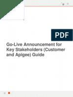 ProdRelease Template GoLiveAnnouncement KeyStakeholders