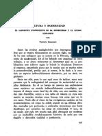 Cultura y Modernidad-el Laberinto Evanescente de La Modernidad y El Mundo Hispanico- Marrero