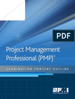 Pmp Examination Content Outline June 2019