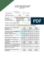 Year 1 Pe Progress Report Card Eastman