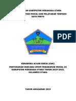 Jadwal Pelaksanaan Pekerjaan Rupm Kabupaten Minahasa Utara 2019