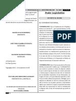 Ley Especial de Adopciones de Honduras Decreto-102-2018