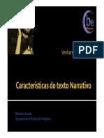 6 - Características Do Texto Narrativo [Modo de Compatibilidade]