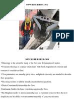 Concrete Rheology