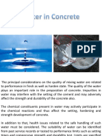 Water for Concrete
