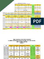 Jadwal Mapel Usulan Untuk Maret 2019