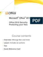 Training Presentation - Office 2010 Security - Protecting Your Files