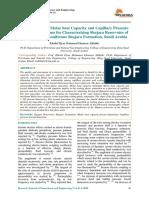 On Similarity of Molar Heat Capacity and Capillary Pressure Fractal Dimensions for Characterizing Shajara Reservoirs of the Permo-carboniferous Shajara Formation Saudi Arabia