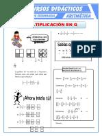 Multiplicación de Números Racionales Para Primero de Secundaria