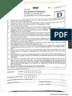 JEE Main 2018 Question Paper Code D