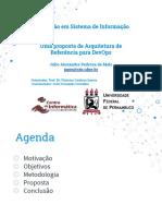 Uma proposta de Arquitetura de Referência para DevOps (apresentação)