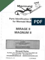 Mermaid Marine Parts Manual Mirage II Magnum II From January Serial Numbers Beginning 11000