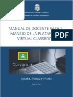 Manual Classroom Docente