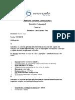 Gramática Portuguesa II Parcial1 Durán