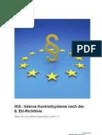 Detecon-Studie IKS - Interne Kontrollsysteme nach der 8. EU-Richtlinie