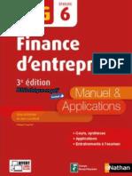 Nathan - DCG UE 6 - Finance d'Entreprise - Manuel & Applications - 3e Édition 2017
