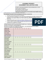 Assignment Declaration Form