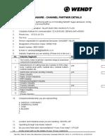Questionnaire - Channel Partner Details