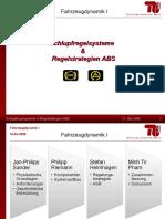 Schlupfregelsysteme & Regelstrategien ABS