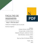 Informe Agua Y Tipos de Agua (1) (1)