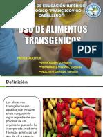 Uso de Alimentos Transgenicos Ppt