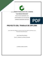 Proyecto Del Trabajo de Diploma Daniel Perez Alfonso 2018