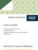 04 - Interval Estimation