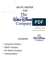 An Ife Matrix for Walt Disney Company