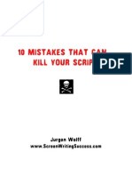 10 Mistakes A Screenwriter Makes