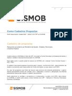 SISMOB Como Cadastrar Propostas FES FMS