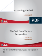 Lesson 1The Self From Various Perspective Philosophy Presentation