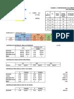 Materiales y Calculos Ensayo(Dosificacion)