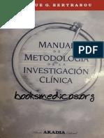 Manual de Metodologia de La Investigacion Clinica