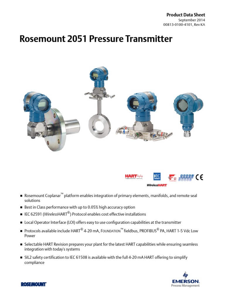 ROSEMOUNT PT 2051.pdf | Flow Measurement | Radio on