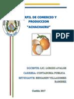 Perfil de Comercio y Produccion Del Achachairu