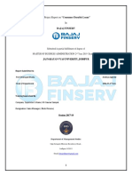 Summer Intership Project Bajaj Finserv
