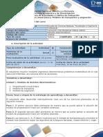 Guia de Actividades y Rúbrica de Evaluación - Tarea 1. PLE, Modelos de Transporte y Asignación