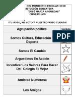 AFICHE ELECCIONES 2018