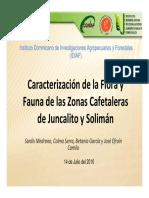 Caracterización de La Flora y Fauna Fincas de Cafe