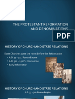 Denominations and the Anabaptists