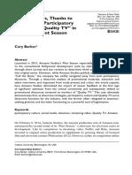 Barker 2016 QTV and Amazon Pilot Season