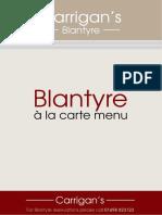 Blantyre Main Menu