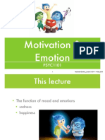 Week 11. PSYC1101. Emotion & Motivation. Lecture 3. Romina Palermo