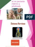 Alzheimer en Paciente Geriátrico y Hospitalizado